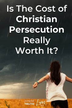 Christian persecution is everywhere. Your faith in Christ will cost you - a lot. But He is worth any price you'll ever pay. Christian Girls, Christian Marriage, Christian Living, Christian Life, Bible Study For Kids, Bible Study Tools, Christian Quotes About Life, Pain Quotes, Top Quotes