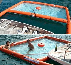 Magic Swim Inflatable Pool For Yachts Makes It Safe To Go Back In The Water Again - OhGizmo! This.