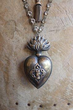 Authentic Antique French 18th Century Ex Voto Necklace by ALTaeR