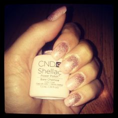 Shellac Nails...Bare Chemise with Glitters ;)