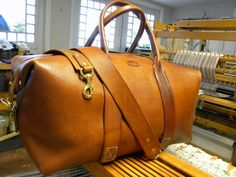 The Classic Duffel Leather Handmade Bag by 40thparallel on Etsy