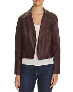 cupcakes and cashmere Shirley Leather Moto Jacket