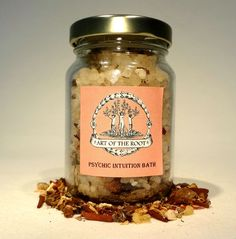 Psychic Intuition Bath Salts for Hoodoo, Voodoo, Wicca & Pagan Divination