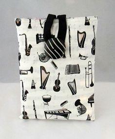 Kindle Sleeve, Christmas Gift Idea, Mini-Ipad Sleeve, Musical Instruments, Fully Padded, Birthday Gift Idea, Handmade in Scotland, Etsy UK - pinned by pin4etsy.com
