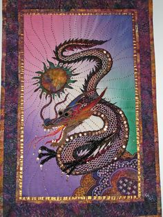 Thom Atkins dragon quilt