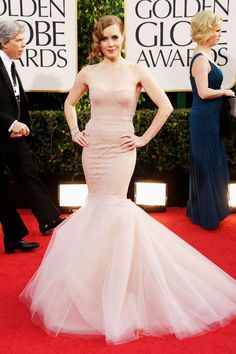 Amy Adams in Marchesa for Golden Globes 2013 #GoldenGlobes