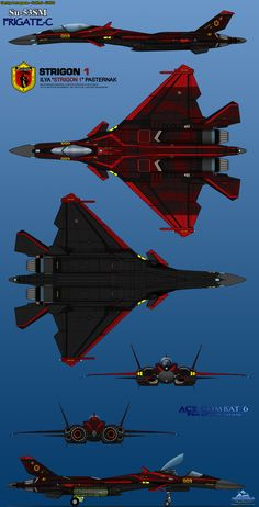 Su-53SM Frigate C 6-View Strigon 1 by haryopanji on DeviantArt
