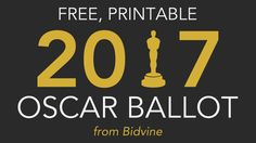You'll want to make sure you print out this 2017 Oscar ballot! The 89th Annual Academy Awards will take place on February 26th, so study up on your films!