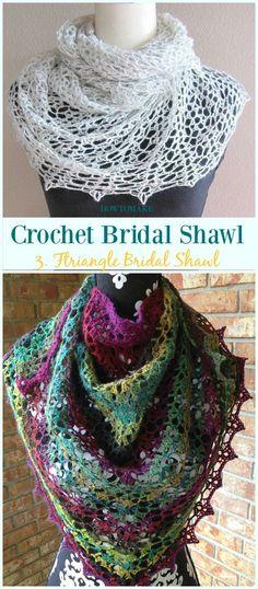 Triangle Bridal Shawl Free Crochet Pattern-Crochet Bridal Shawl Free Patterns