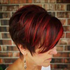 Funky Cherry Red Pixie