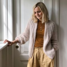 Ravelry: Sunday Cardigan - Mohair Edition pattern by PetiteKnit Drops Kid Silk, Knit Cardigan Pattern, I Cord, Knit In The Round, Summer Pants, Mohair Sweater, Mohair Yarn, Yarn Shop, Stockinette