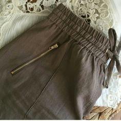 """Brown shorts - L Nwt. 55% linen/ 45% vicose 15"""" waist - laying flat/unstretched 17.5"""" waist - laying flat/stretched 11.5"""" long 3"""" inseam  NO trades/PP Shorts"""