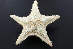 Porta alianças em uma estrela do mar natural #portaaliancas #casamento #perolas #estreladomar #aliancas #wedding #diy #facavcmesmo
