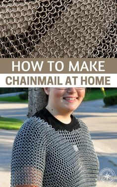 How To Make ChainMail At Home — Chainmail is relatively simple to do once you grasp the general idea, im not saying you forgo your bullet proof Armour for chain mail, but there is just something about chainmail that screams out MAKE ME! #prepping #diy #chainmail