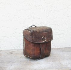 Antique Russian Ammo Pouch / Vintage Leather by AlegriaCollection, $39.00