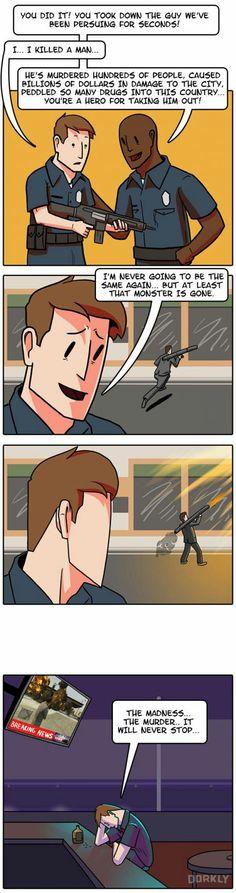 The sad life of a GTA cop