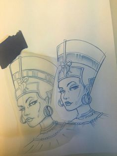 Nefertiti tattoo love the tude Tattoos 3d, Dream Tattoos, Tattoo Drawings, Script Tattoos, Arabic Tattoos, Flower Tattoos, Dragon Tattoos, Pretty Tattoos, Beautiful Tattoos