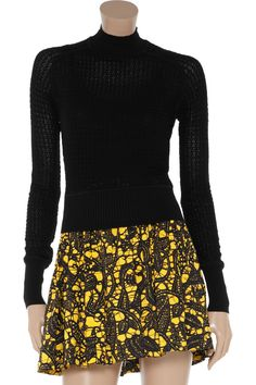 Alexander Wang Zigzag crocheted cotton-blend sweater - for when it's too cold for a tee.