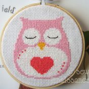 owl heart cross stitch at Craftsy.com $4 for the pattern
