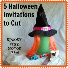 5 Halloween Cutting Practice Activities for Kids Witches Ghosts and more from Lalymom