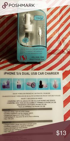 USB Dual Car Charger iPhone 5/6 Smart Wireless Other
