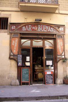 Bar - Restaurant Muy Buenas, carrer Carme, el Raval, Barcelona, Catalunya