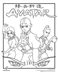 avatar the last airbender coloring pages coloring pages and design