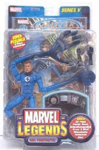 Marvel Legends Mr Fantastic 4 Four w Fantasticar Series 5 Toy Biz