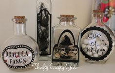 Thrifty Crafty Girl: 31 Days of Halloween - Potion Ingredient Jars