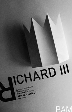 Richard III, BAM Theatre_Poster design by PANIO VENTZA