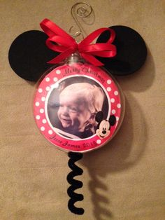Photo Ornaments made my Lila George found on ebay Personalized Photo Ornaments, Beautiful Gifts, How To Make Ornaments, Minnie Mouse, Disney Characters, Christmas, Ebay, Art, Xmas