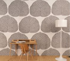 Sir Terrance Conran's Leaf wallpaper.