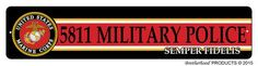 US Marines MOS 5811 Military Police Street Sign