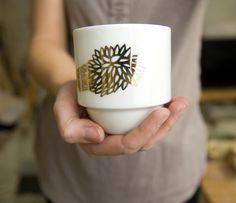 Geschirr- & Porzellan-Sets - Frühstücks-Set - ein Designerstück von imkadesign bei DaWanda
