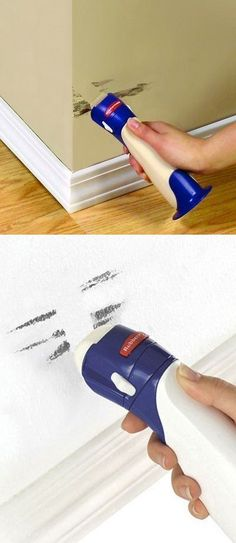 SO CLEVER! Rubbermaid Paint Buddies. Put your left over paint in them and retouch anytime you want.