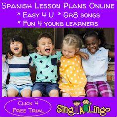 Teach Spanish to preschool children with Singalingo.