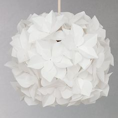 Buy John Lewis Lotus Easy-to-Fit Flower Pendant Shade from our Ceiling Lighting range at John Lewis. Pink Light Shades, Feather Light Shade, Ceiling Lamp Shades, Ceiling Lights, Flower Ceiling, Floral Lampshade, Orange Sofa, Cosy Room, Light Fittings