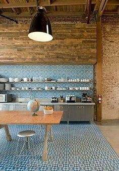 I don't have to go this crazy with patterned tiles, but I love it on the backsplash