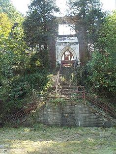Ruins of an old junior high school in Coalwood, West Virginia.