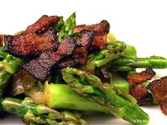 Warm & Smokey Asparagus Salad