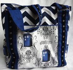 TARDIS tote bag / bookbag. Definitely bigger on the inside. #doctorwho