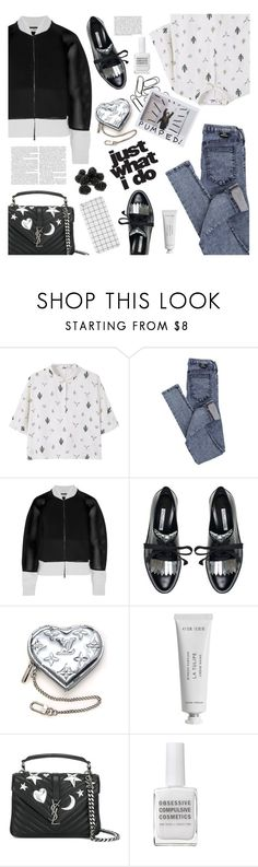 """""""just what i do"""" by valentino-lover ❤ liked on Polyvore featuring MANGO, Dr. Denim, Fendi, Oscar de la Renta, Louis Vuitton, Byredo, Yves Saint Laurent, Whiteley and Obsessive Compulsive Cosmetics"""