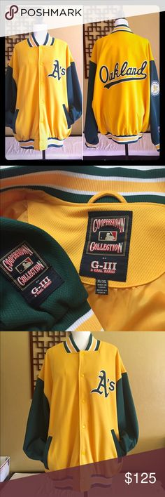 NWOT Men's OAKLAND A's MLB Jacket NWOT  Men's OAKLAND A's Jacket   Major League Baseball  team  Size: XL                Brand: COOPERSTOWN COLLECTION    Great known brand COOPERSTOWN COLLECTION Jackets & Coats Bomber & Varsity