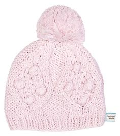 Image of Pink pom pom beanie