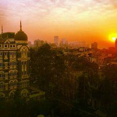 Sunset over Mumbai. #breathtaking #india #tajmahalhotel, Fresh Gypsy on Instagram
