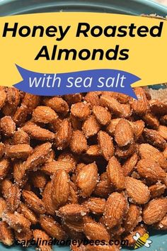 Enjoy a quick nutritious snack with this recipe for Honey Roasted Almonds with sea salt. Sweet but not too sweet with just a taste of salt - an easy snack option and great for gifts too! No Salt Recipes, Honey Recipes, Almond Recipes, Quick Snacks, Quick Easy Meals, Cooking With Honey, Healthy Chip Alternative, Honey Roasted Almonds, Nutritious Snacks