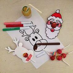 Chupa Chups natalizi. Regali DIY per bimbi. Free printable.