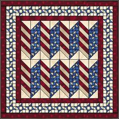 Bars and Stars Quilt - Patriotic