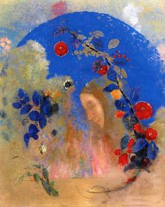 Profile beneath an Arch Odilon Redon - circa 1905