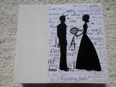 6x6 Premade Weddind Scrapbook by SimplyMemories on Etsy.  Unique wedding shower gift.